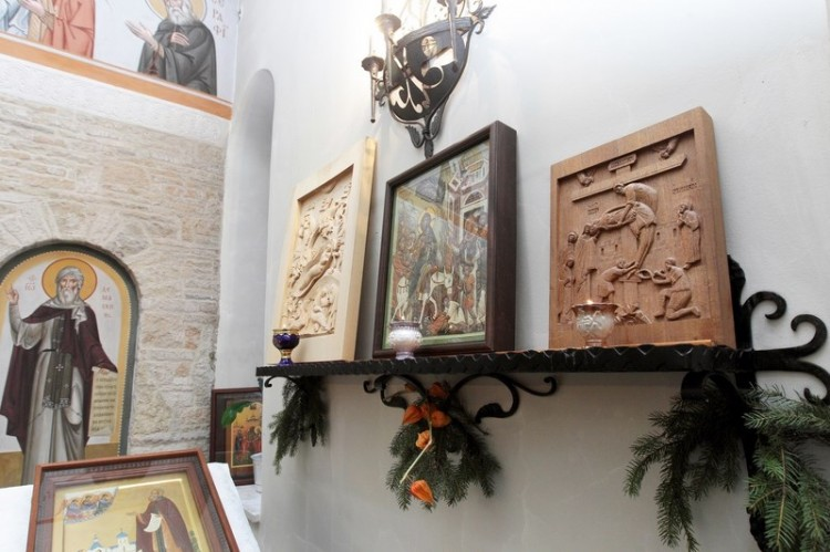 Открытие выставки резной иконы