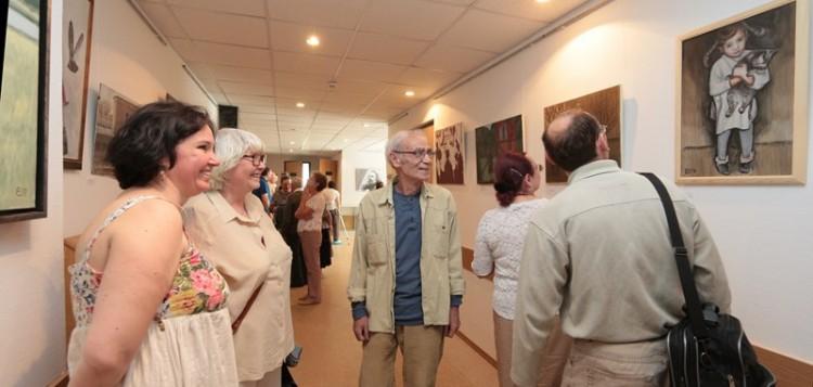 Открытие выставки Евгения Тихонова