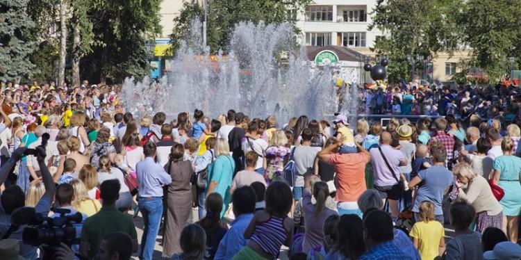 Открытие нового городского фонтана