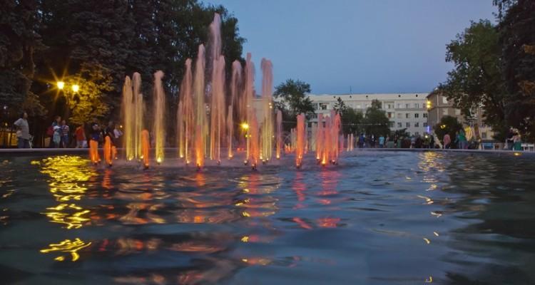 Новый городской фонтан