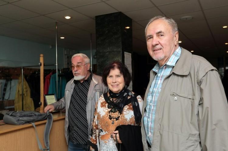 Павел Мень, Наталья Федоровна Григоренко-Мень и фотограф Виктор Андреев