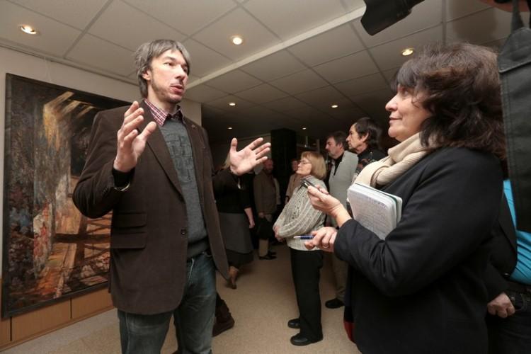 Открытие выставки живописи Андрея Лысенко