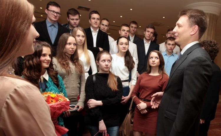 Александр Двойных и сергиевопосадские школьники