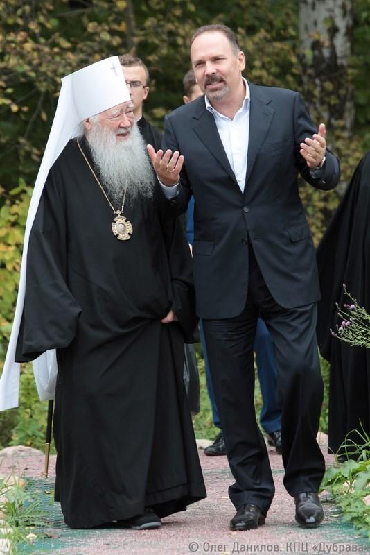 Митрополит Крутицкий и Коломенский Ювеналий с Михаилом Менем