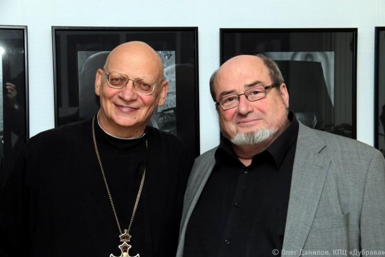 Протоиерей Владимир Архипов и Юрий Беленький