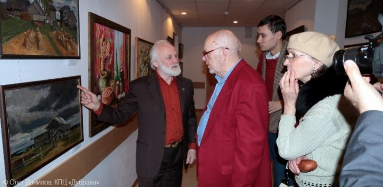Открытие выставки Виктора Багрова