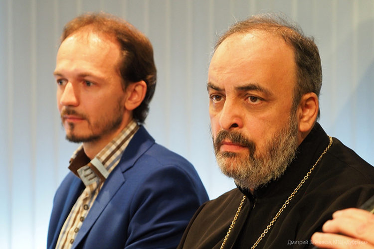 Олег Устинов и протоиерей Лев Шихляров